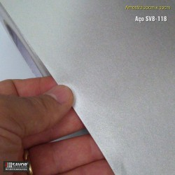 Amostra 20cm x 30cm - Metal Prata SV8-118 - revestimento PVC adesivo