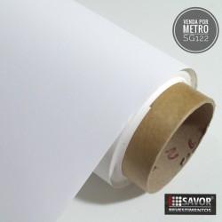 Branco SG122 linha sólido adesivo Decorativo (Largura 122cm) venda por metro