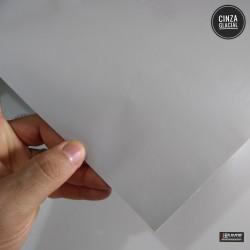 (Amostra 20cm x 30cm) Cinza Glacial satin - Adesivo Decorativo