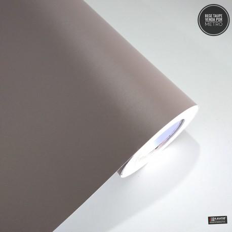 Bege Taupe Satin Adesivo Decorativo (Largura 122cm), espessura 0,16mm venda por metro