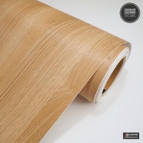 Carvalho Castanho SG381 - revestimento PVC adesivo decorativo (Largura 122cm) - venda por metro