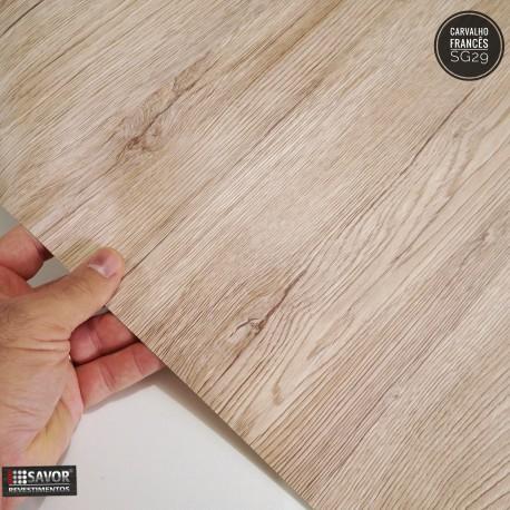 (Amostra 20cm x 30cm) Madeira Carvalho Francês - Adesivo