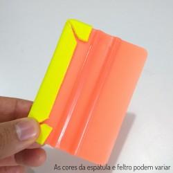 Espátula plástica com Revestimento em feltro - venda por unidade cores diversas