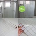 Película decorativa Quadrados 3,5cm brancas, intervalos de 0,7cm, largura 150cm , venda por metro