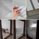 Película decorativa listras brancas 3cm , intervalos 1cm transparente, venda por metro, largura 150cm