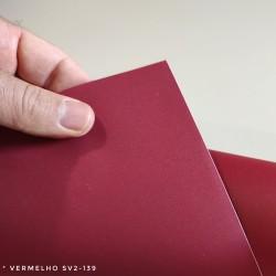 (Amostra 20cm x 30cm) Vermelho Fórmica SV2-139 auto-adesivas fabricadas em PVC, largura 122cm