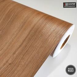 Madeira Noce NG03 - Adesivo Decorativo (Largura 122cm) - venda por metro - textura lisa fosca