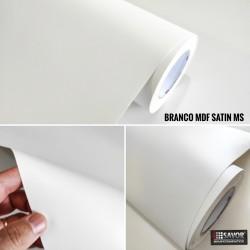 Branco MDF Satin MS Adesivo Decorativo (Largura 122cm), espessura 0,16mm venda por metro