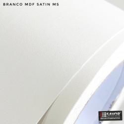 (Amostra 20cm x 30cm) Branco MDF satin MS - Adesivo Decorativo