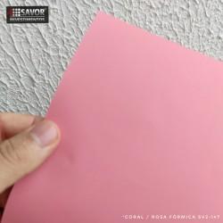 (Amostra 20cm x 30cm) Coral / rosa fórmica SV2-147 adesivo Decorativo