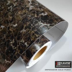 Mármore emperador gold - revestimento PVC adesivo decorativo (Largura 122cm) - venda por metro