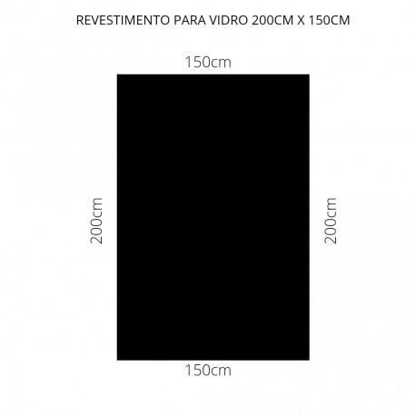 Revestimento Preto 200cm x 150cm , poliéster adesivo para mesa de vidro