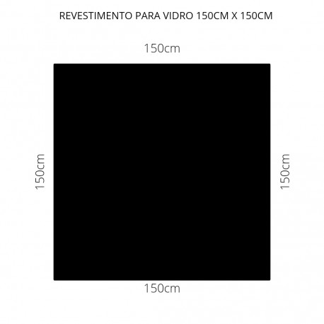 Revestimento Preto 150cm x 150cm , poliéster adesivo para mesa de vidro
