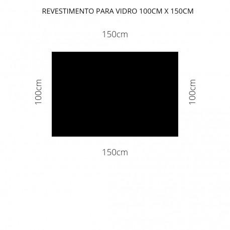 Revestimento preto 100cm x 150cm , poliéster adesivo para mesa de vidro