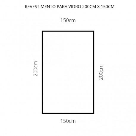 Revestimento branco 200cm x 150cm , poliéster adesivo para mesa de vidro