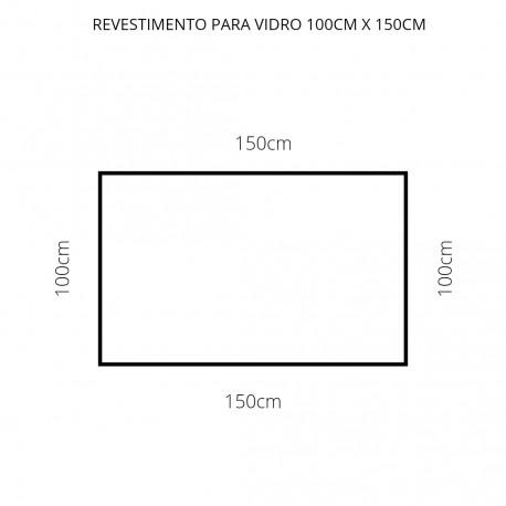 Revestimento branco 100cm x 150cm , poliéster adesivo para mesa de vidro