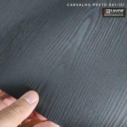 (Amostra 20cm x 30cm) Madeira Carvalho preto SV1-151 Adesivo Decorativo