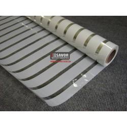 Película decorativa listras brancas 3cm , intervalos 1cm transparente